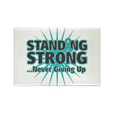 Ovarian Cancer Strong Rectangle Magnet