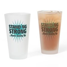 Ovarian Cancer Strong Drinking Glass
