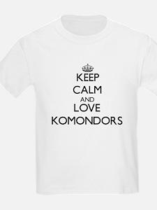Keep calm and love Komondors T-Shirt