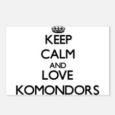 Keep calm and love Komond Postcards (Package of 8)