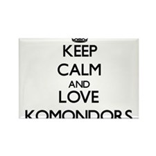 Keep calm and love Komondors Magnets