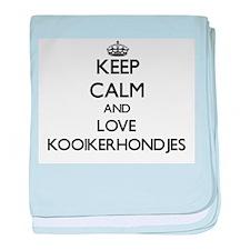 Keep calm and love Kooikerhondjes baby blanket