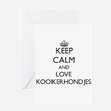 Keep calm and love Kooikerhondjes Greeting Cards