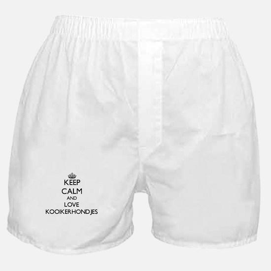 Keep calm and love Kooikerhondjes Boxer Shorts