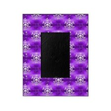 Christmas Snowflakes on Purple Picture Frame
