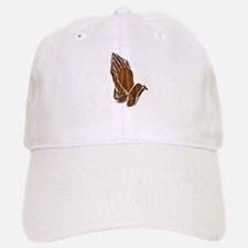 Dark Wood Pray Hands Baseball Baseball Baseball Cap