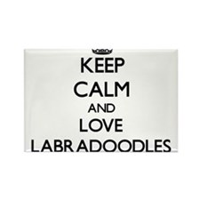 Keep calm and love Labradoodles Magnets