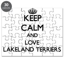 Keep calm and love Lakeland Terriers Puzzle