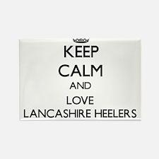 Keep calm and love Lancashire Heelers Magnets