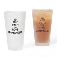 Keep calm and love Leonbergers Drinking Glass