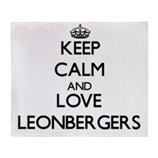 Keep calm and love Leonbergers Throw Blanket