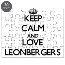 Keep calm and love Leonbergers Puzzle