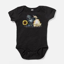 Sunny Pugs Baby Bodysuit