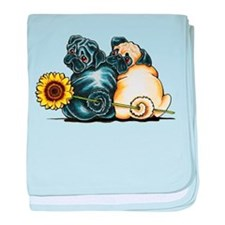 Sunny Pugs baby blanket