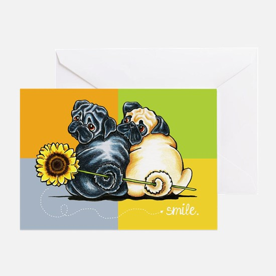 Smile Theyre Pugs Greeting Cards