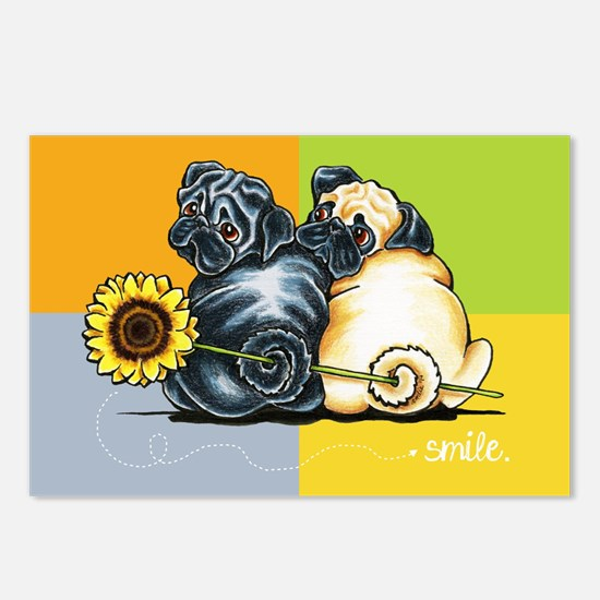 Smile Theyre Pugs Postcards (Package of 8)