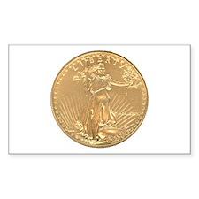 Gold Liberty 1986 Rectangle Decal