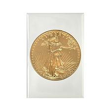 Gold Liberty 1986 Rectangle Magnet