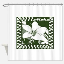 Aloha In Green Shower Curtain
