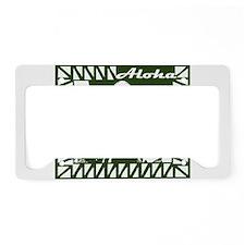 Aloha In Green License Plate Holder