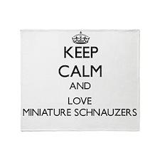 Keep calm and love Miniature Schnauz Throw Blanket