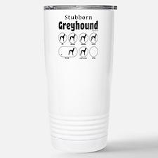 Stubborn Greyhound v2 Travel Mug
