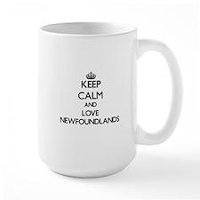Keep calm and love Newfoundlands Mugs