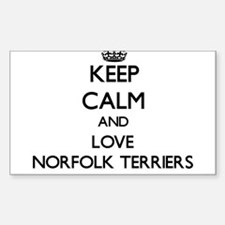 Keep calm and love Norfolk Terriers Decal