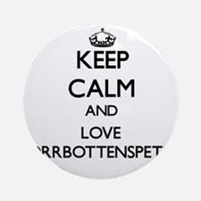 Keep calm and love Norrbottenspet Ornament (Round)