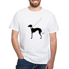 Black Dog w/ Flower Shirt