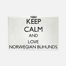 Keep calm and love Norwegian Buhunds Magnets