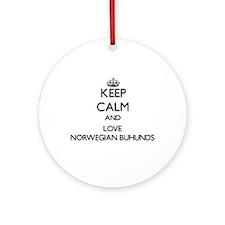 Keep calm and love Norwegian Buhu Ornament (Round)