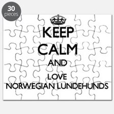 Keep calm and love Norwegian Lundehunds Puzzle