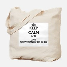 Keep calm and love Norwegian Lundehunds Tote Bag