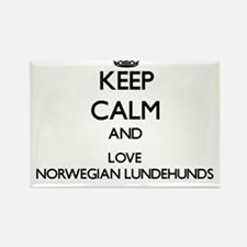 Keep calm and love Norwegian Lundehunds Magnets