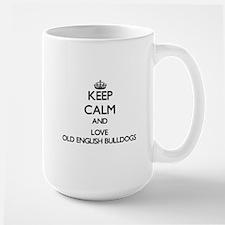 Keep calm and love Old English Bulldogs Mugs