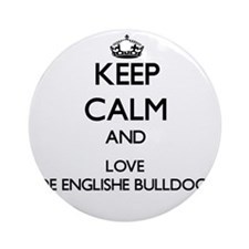 Keep calm and love Olde Englishe Ornament (Round)