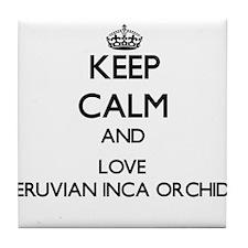 Keep calm and love Peruvian Inca Orch Tile Coaster