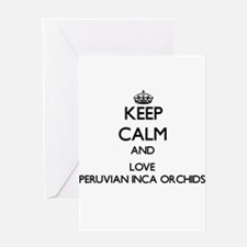 Keep calm and love Peruvian Inca Or Greeting Cards