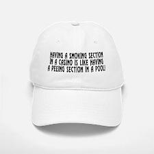 Smoking section...casino - Baseball Baseball Cap