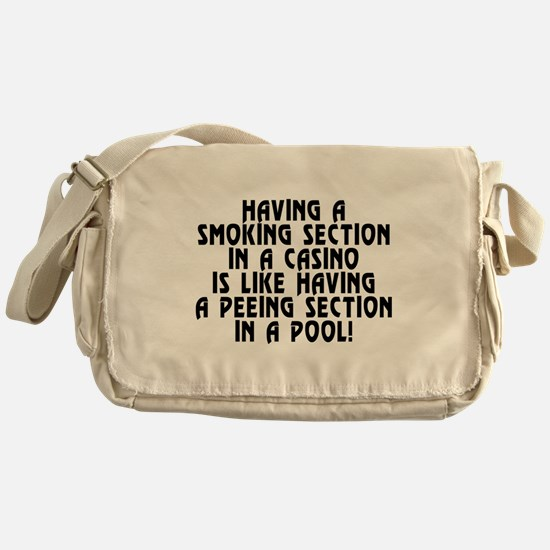 Smoking section...casino - Messenger Bag