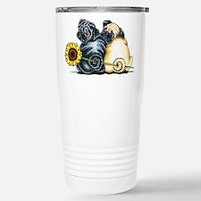 Sunny Pugs Travel Mug