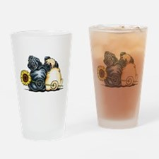 Sunny Pugs Drinking Glass