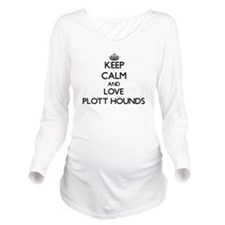 Keep calm and love P Long Sleeve Maternity T-Shirt