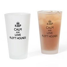 Keep calm and love Plott Hounds Drinking Glass