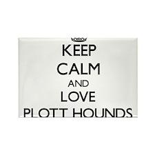 Keep calm and love Plott Hounds Magnets