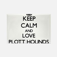 Keep calm and love Plott Hounds Magnets