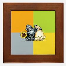Sunny Pugs Framed Tile