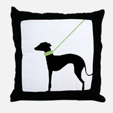 Black Dog Throw Pillow