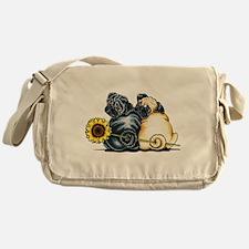 Sunny Pugs Messenger Bag